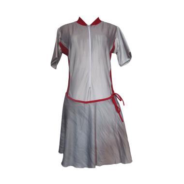 Rainy Collections Baju Renang Rok Jumbo - Abu Lis Merah