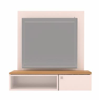 Dekorey TC001 TV Cabinet Basic Small Kabinet TV - White Brown