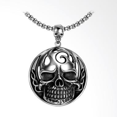 SOXY Hot Round Skull Men's Pendant Necklace Pria [GMYN024]