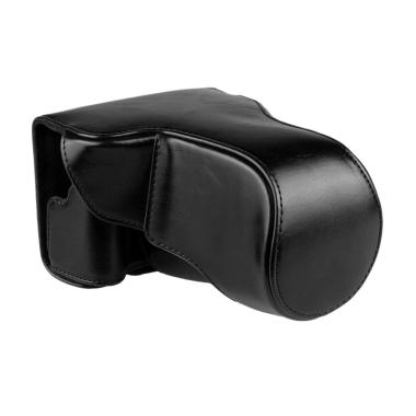 Canon Leather Bag for Canon EOS M3 Kit 15-45 mm or 18-55 mm - Hitam