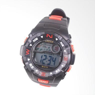 Lasika Sport Digital Jam Tangan Unisex - Black Red [W-F 77]