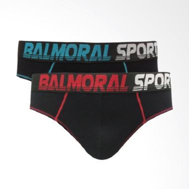 BALMORAL Celana Dalam Boxer Underwear Pria [BMRS-01/Promo Size S]