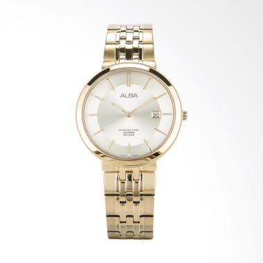 Alba Champagne Dial Stainless Steel Jam Tangan Pria - Gold [AS9D74X1]