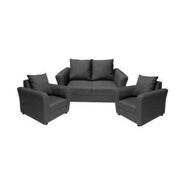 FCENTER 211 Aster Set Sofa - Grey [Pulau Jawa*)