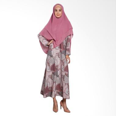 Erin Collection Baju Muslim Wanita Motif Kerudung Pinguin - Pink Tua