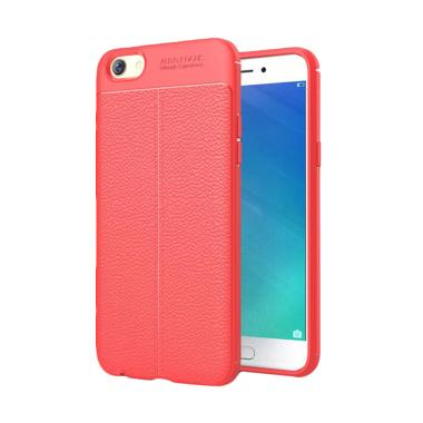 Viseaon Carbon Litchi Orange Peel T ...  Casing for OPPO F3 - Red