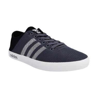 adidas VS Easy Vulc Shoes Cassual M ... ia -  Grey Black [B74523]