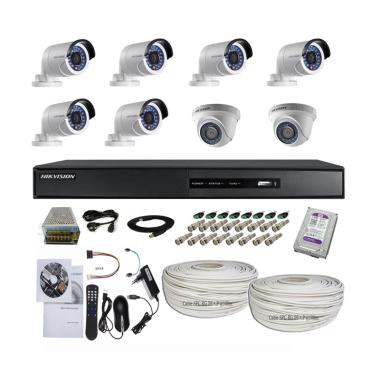 Hikvision 16 CH Turbo HD Paket CCTV [2 In + 6 Out/ 2.0 MP/ 1TB/ 200 m]