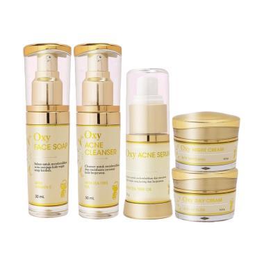 Oxyglow Basic Acne Series Paket Perawatan Wajah