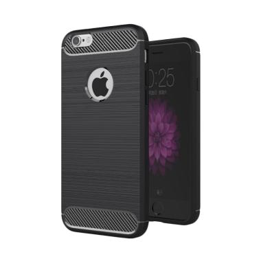 Wakaka Carbon TPU Casing for Apple iPhone 6 Plus/6s Plus - Hitam