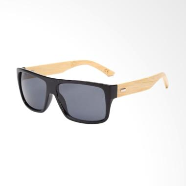 Eight Bamboo Kacamata Fashion Sunglasses Man - Black