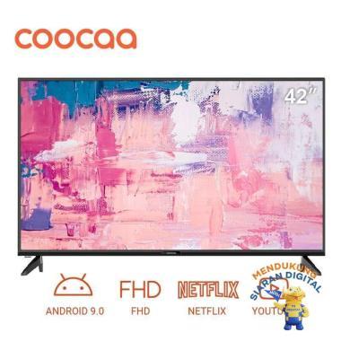 COOCAA 42 inch Full HD - Smart TV - TV Android 9 - Wifi HITAM