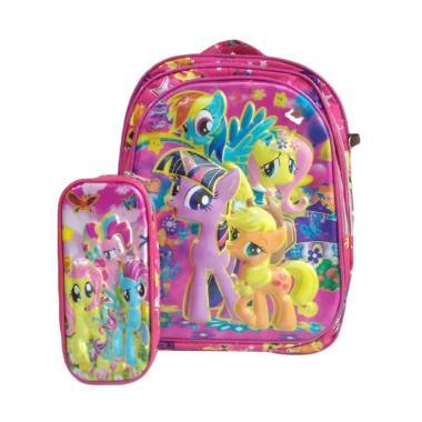 My Little Pony 0930010407 Tas Sekolah Anak + Tempat Pensil