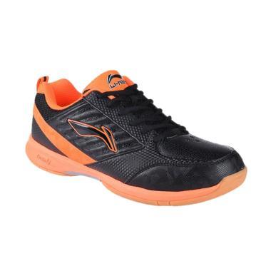 Li-Ning Elva Sepatu Badminton - Black Orange [AYTM045-1]