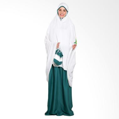 Aira Muslim Butik AB.MK-35 Alyana Prayer Set Mukena - White Green
