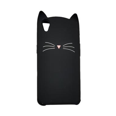 OEM Marcell Simple Cat Casing for OPPO A37 - Black