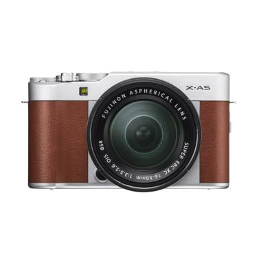 Fujifilm X-A5 KIT 15-45 mm Kamera Mirrorless - Brown + SD 16Gb Class10