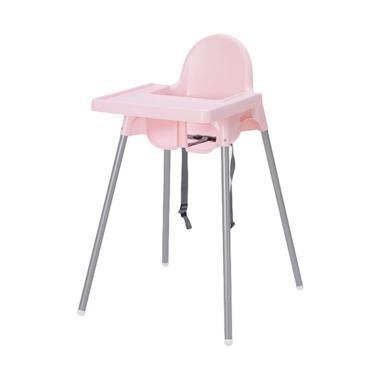 Ikea Antilop Baby Chair High with Tray Set Kursi Makan Anak - Pink [1 pcs]