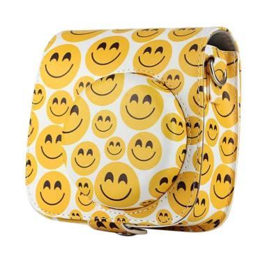 Fujifilm Leather Bag Kamera Instax  ... oid Emoji Smile Face Case