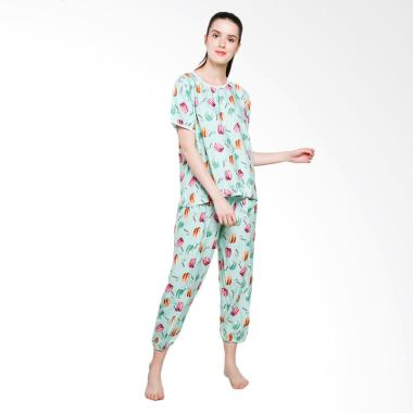 Jo & Nic Macaroon Pajama Setelan Piyama Wanita - Tosca