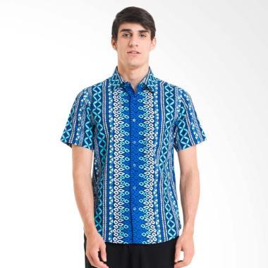 Bateeq Dobi Print Shirt Kemeja Bati ... Pria - Blue [FM008A-FW17]