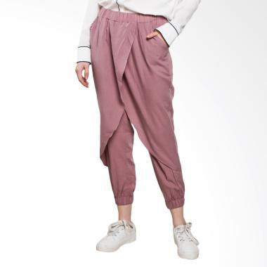 Jo & Nic Zaskia Front Layer Celana Jogger Wanita - Purple