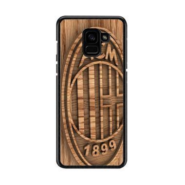 Guard Case Ac Milan Wood O1207 Cust ... msung Galaxy A8 2018 Plus