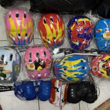 harga Helm helmet inline sepatu roda-Sepeda KARAKTER ANAK+Dekker SATU SET Multicolor Blibli.com