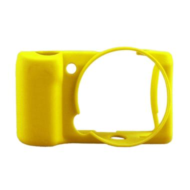 Godric Silicone Case for SONY Alpha Mirrorless A5000 or A5100 - Kuning