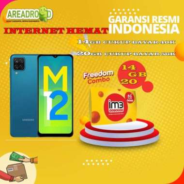 harga Samsung M12 [4/64 GB] Samsung Galaxy M12 4 GB 64 GB Bundle Indosat Garansi Resmi Bundle 14GB Blibli.com
