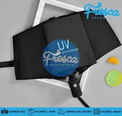 harga Payung Lipat Otomatis Anti UV Protection Buka Tutup Lipat Tiga Trendy UV Protection Payung Otomatis Hitam Blibli.com