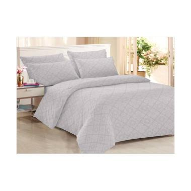 Clarin House Emboss Jacquard Ash Set Sprei - Light Grey