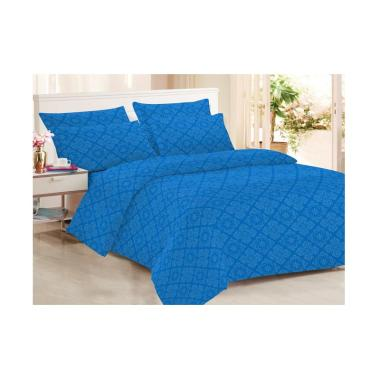 Clarin House Emboss Jacquard Set Sprei dan Bed Cover - Lapis Blue