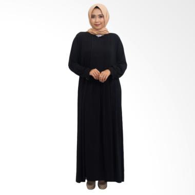 MIMUMOO Kaftan Abaya Dress Muslimah Syar'i Hamil Gamis - Hitam