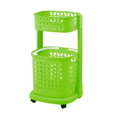 Rovega RLB-200 Premium Laundry Basket Keranjang Pakaian - Green