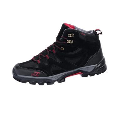 Snta Boots Hiking Sepatu Gunung Pria - Black Red [491]