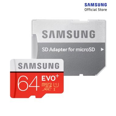Samsung MicroSD EVO Plus Memory Card with Adapter [64GB]