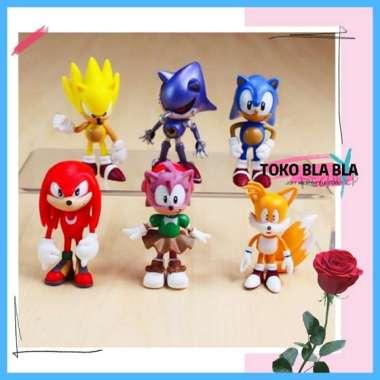 harga Mainan Anak Miniatur Action Figure Super Sonic The Hedgehog Boneka Set Blibli.com