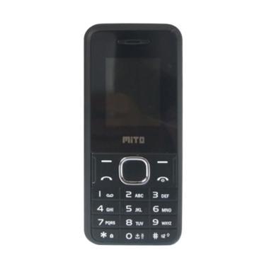 Mito 105 Candybar Handphone - Black Blue [Dual Sim/Camera]