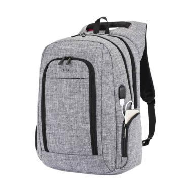 DTBG D8234W Slim Laptop Backpack 17 ... SB Port - Grey [Original]