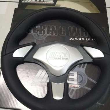 harga Stir mobil racing ---M3 kulit asli-setir mobil -leather onderdil mobil Multicolor Blibli.com