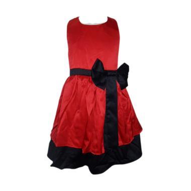 VERINA BABY Dress Pesta Anak dengan Variasi Pita - Red