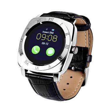 Xwatch DZ10 Smartwatch for Android and IOS - Black Silver
