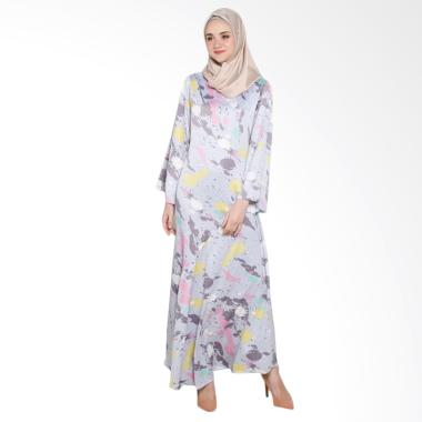 Covering Story B Ceila Dress Muslim Wanita - Dark Grey