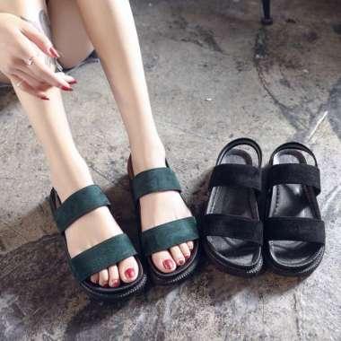 harga Wanita roman sandal gaya terbuka manis fashion sepatu suede sepatu (Kode A 004) multicolor Blibli.com