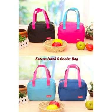 harga Dijual New Korean Lunch  Cooler Bag Tas dgn lapisan penahan panasdingin - PINK FANTA Murah Blibli.com