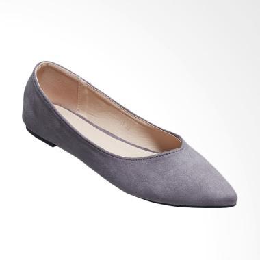 Octav 1219 101 Maureen Bow Flats Sepatu Wanita Grey