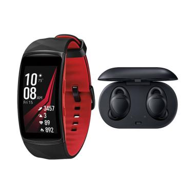 Samsung Gear IconX 2018 Headset - B ...  Smartwatch - Red [Small]