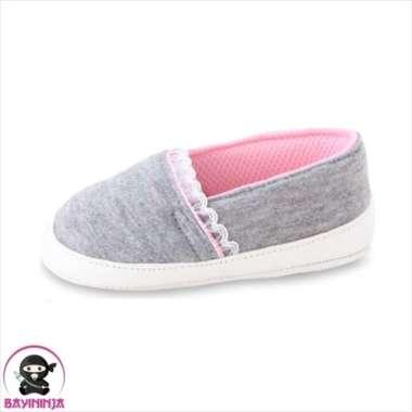 harga Promo LUSTY BUNNY Sepatu Bayi Prewalker Sol Kain Anti Slip PS8307 - 120 mm ABU Diskon Blibli.com