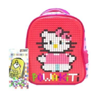 Powa 0930010587 Pixel Tas Ransel Anak - Pink